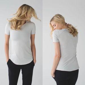 Lululemon Inner Essence Short Sleeve Silver Tee 4